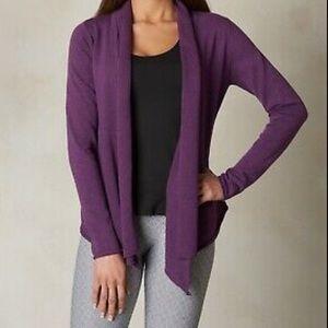Purple Prana Georgia Drape Cardigan